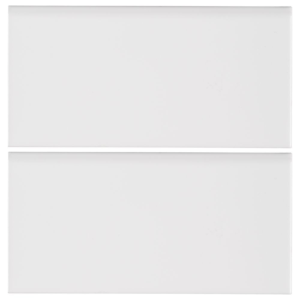 White Hudson 3X6 Single BullNose