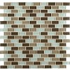 Scenice Valley Mini Brick Interlocking Glass Mosaic