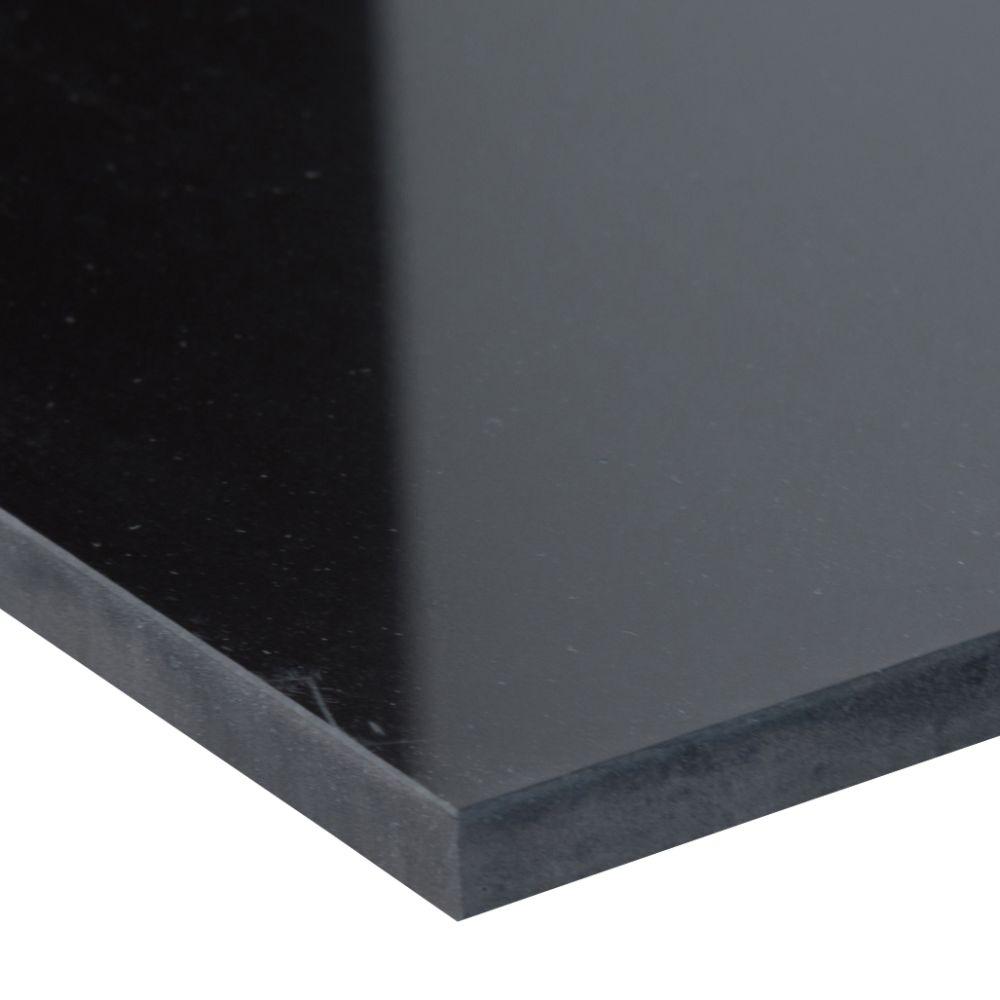 Domino Black 12X24 Polished Porcelain Tile