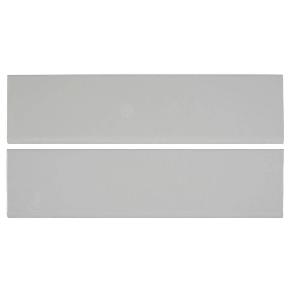 Domino Gray 4X16 Glossy Single Bullnose Ceramic Tile