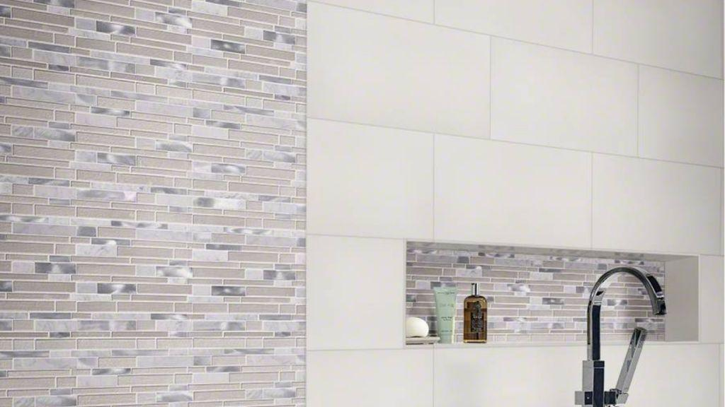 Domino White 24X24 Polished Porcelain Tile