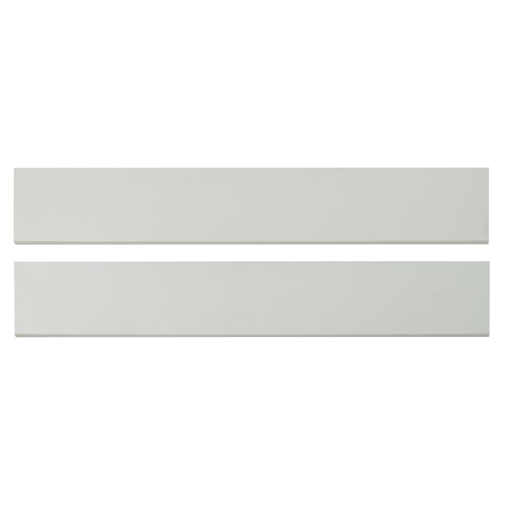 Domino White Bullnose 4x24 Polished Porcelain Tile