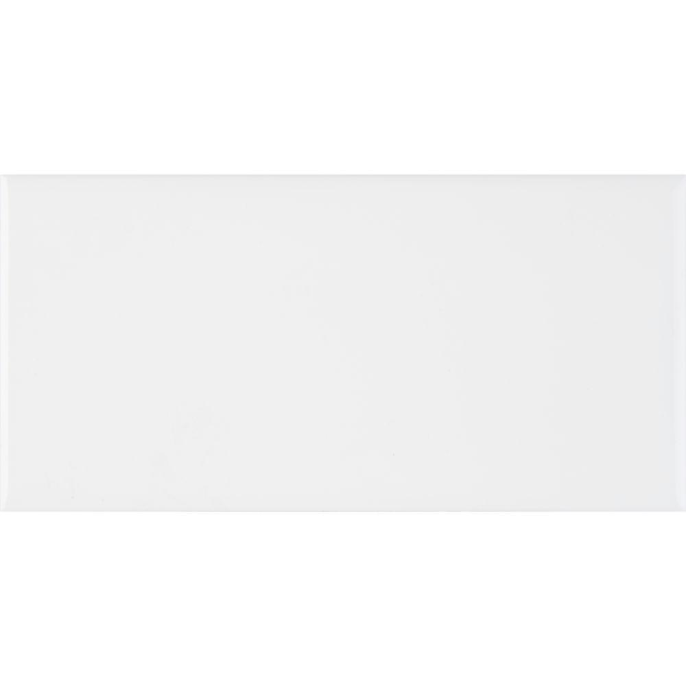 Domino White Glossy 3X6 Subway Tile