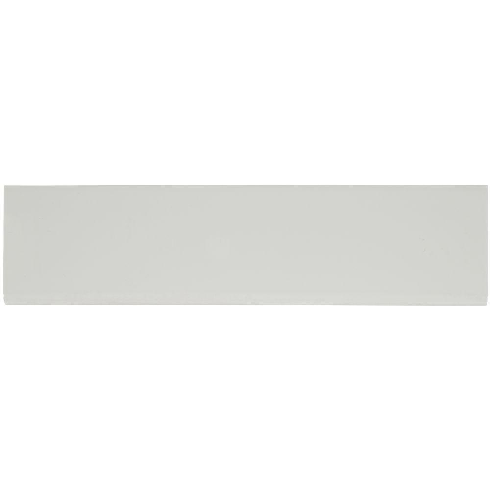 Domino White Glossy 4X16 Single BullNose
