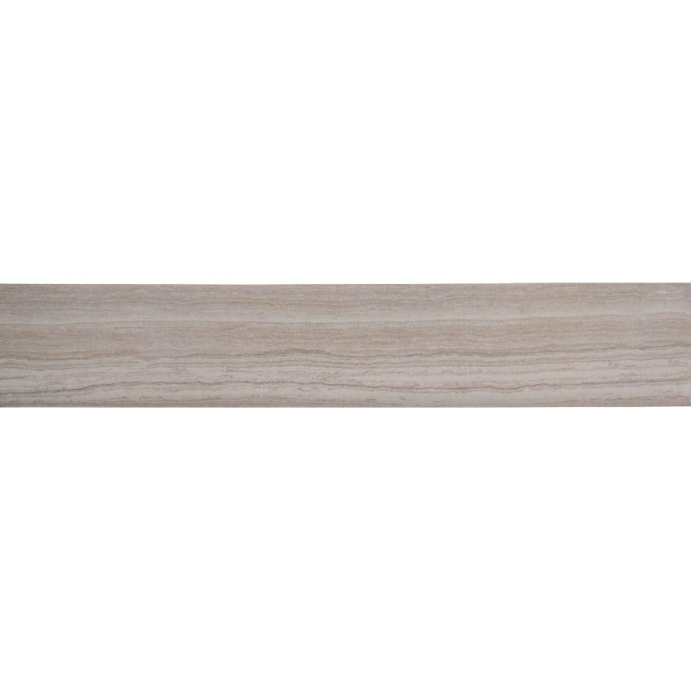 Essentials Charisma White Bullnose 3X18 Matte Ceramic Tile