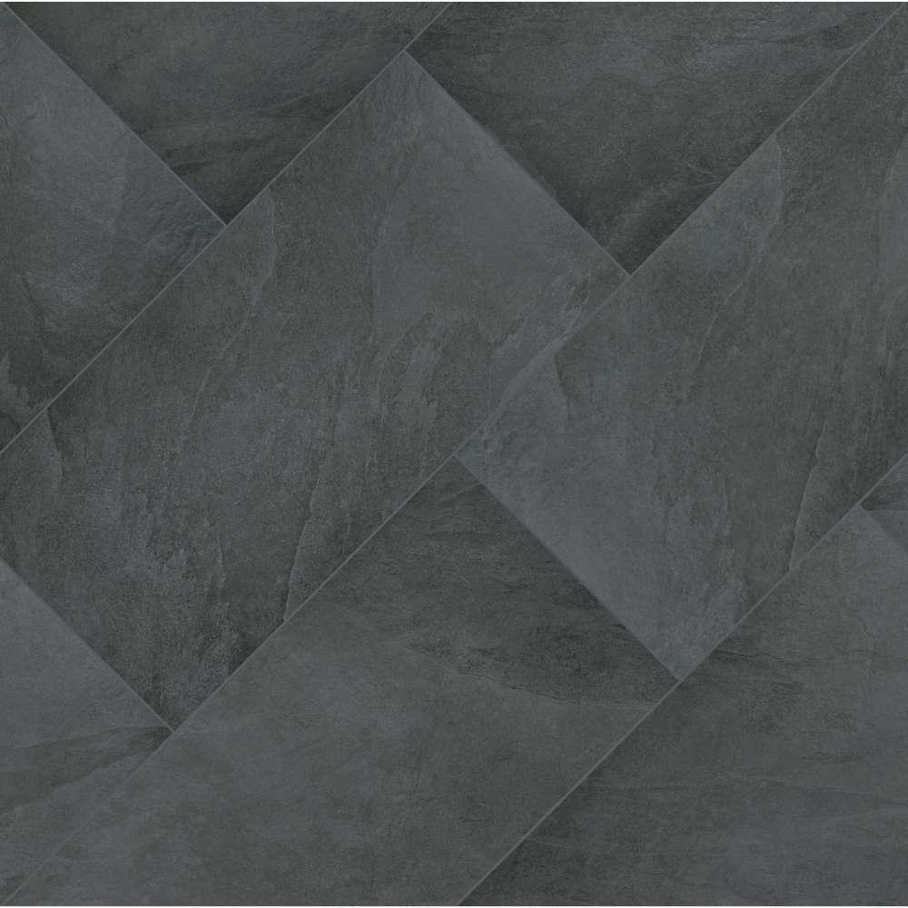 Legions Montauk Black 24X48 Matte Porcelain Tile