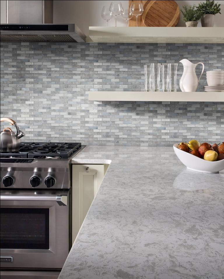 Lupano Interlocking Pattern Glass Stone Mosaic