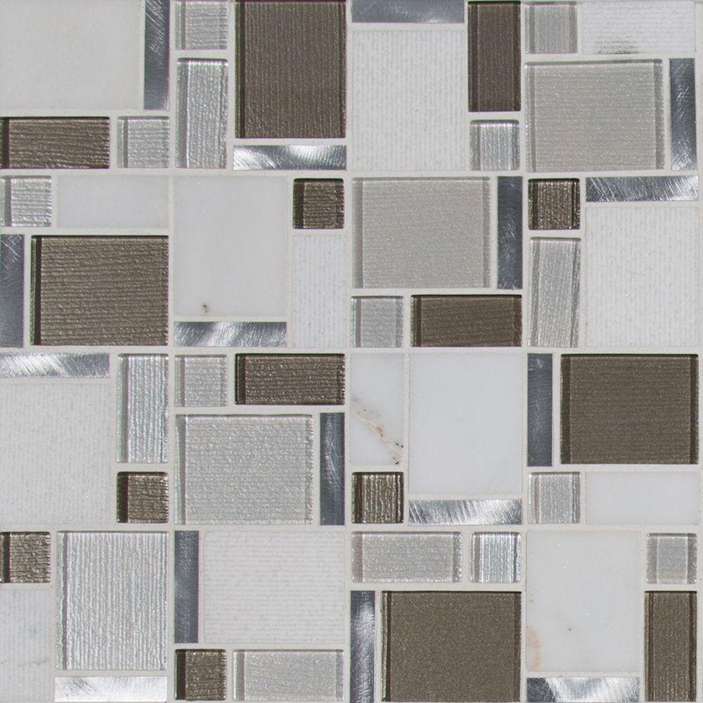 Magica Glass Stone Blend  Mosaic Tile