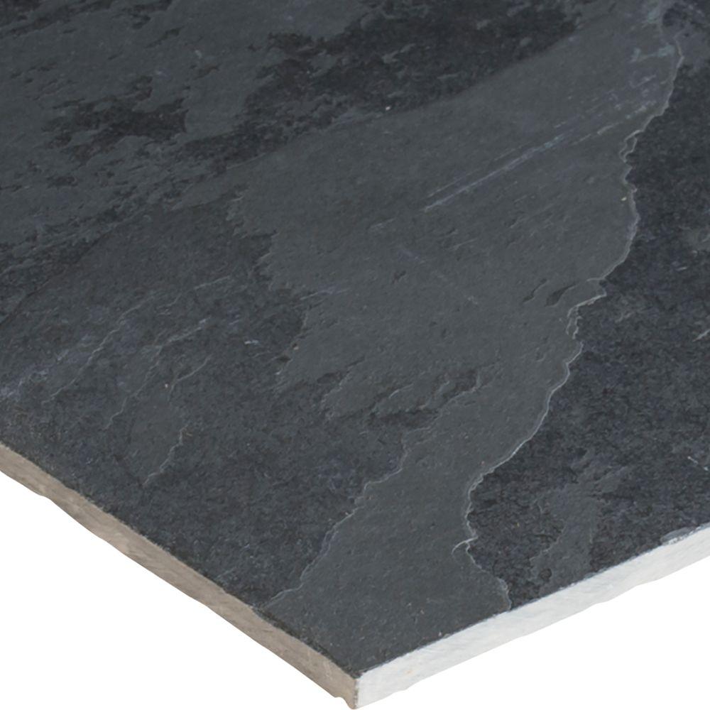 Montauk Black 12X12 Gauged Slate