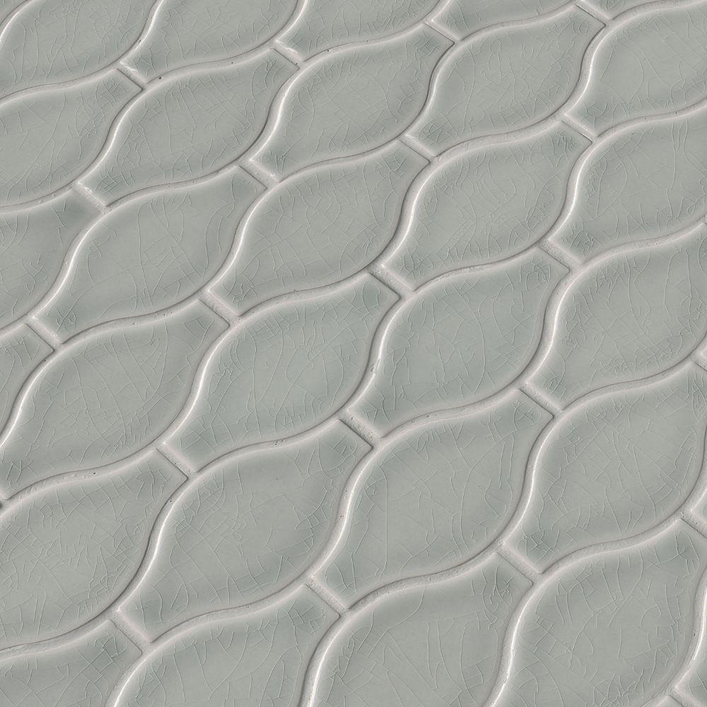 Morning Fog Ogee Pattern 12X12 Glossy
