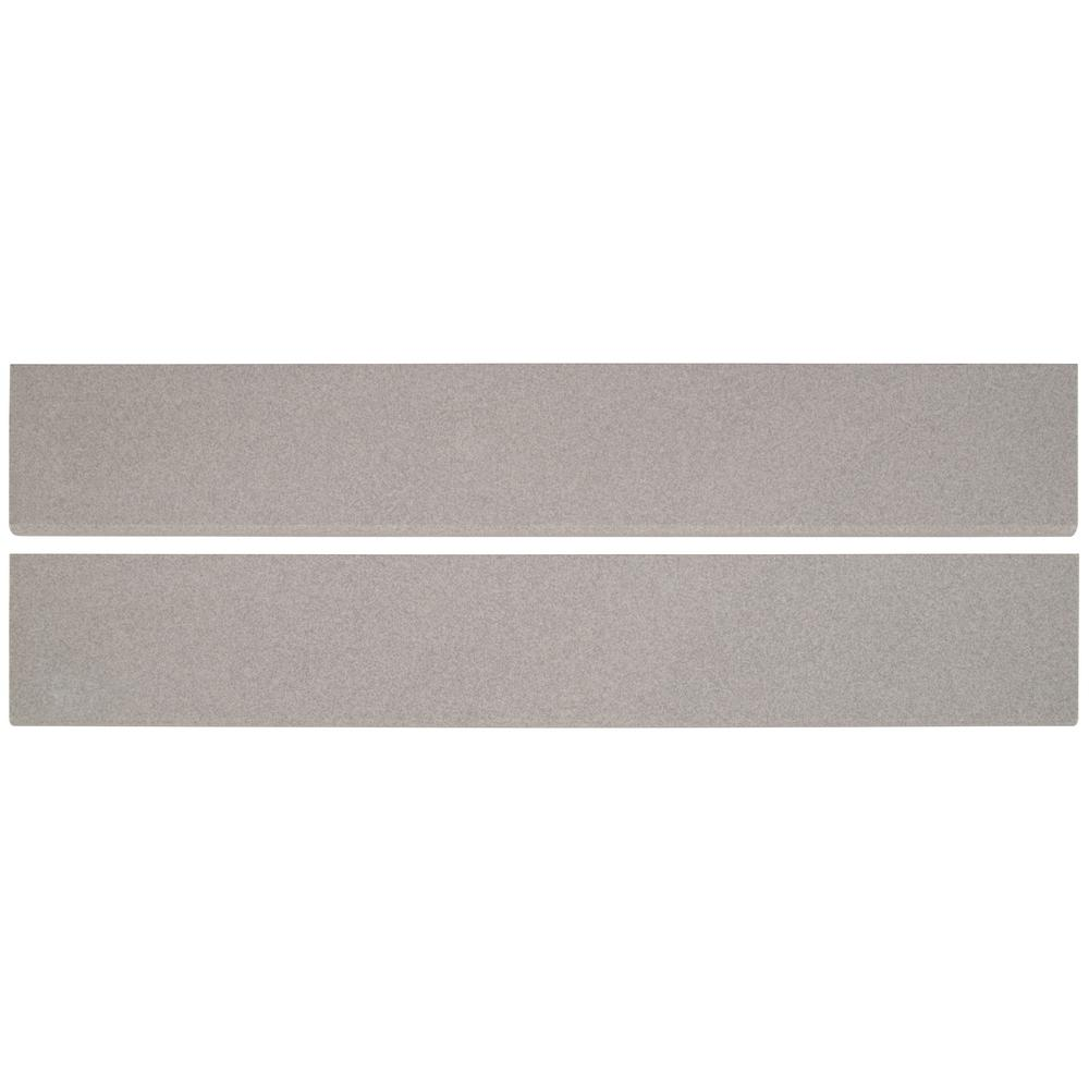 Optima Grey Bullnose 4x24 Matte Porcelain Tile