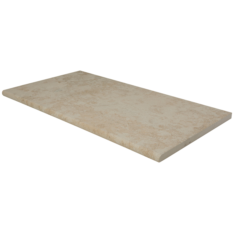 Petra Beige 13X24 One Long Side Bullnose Pool Coping