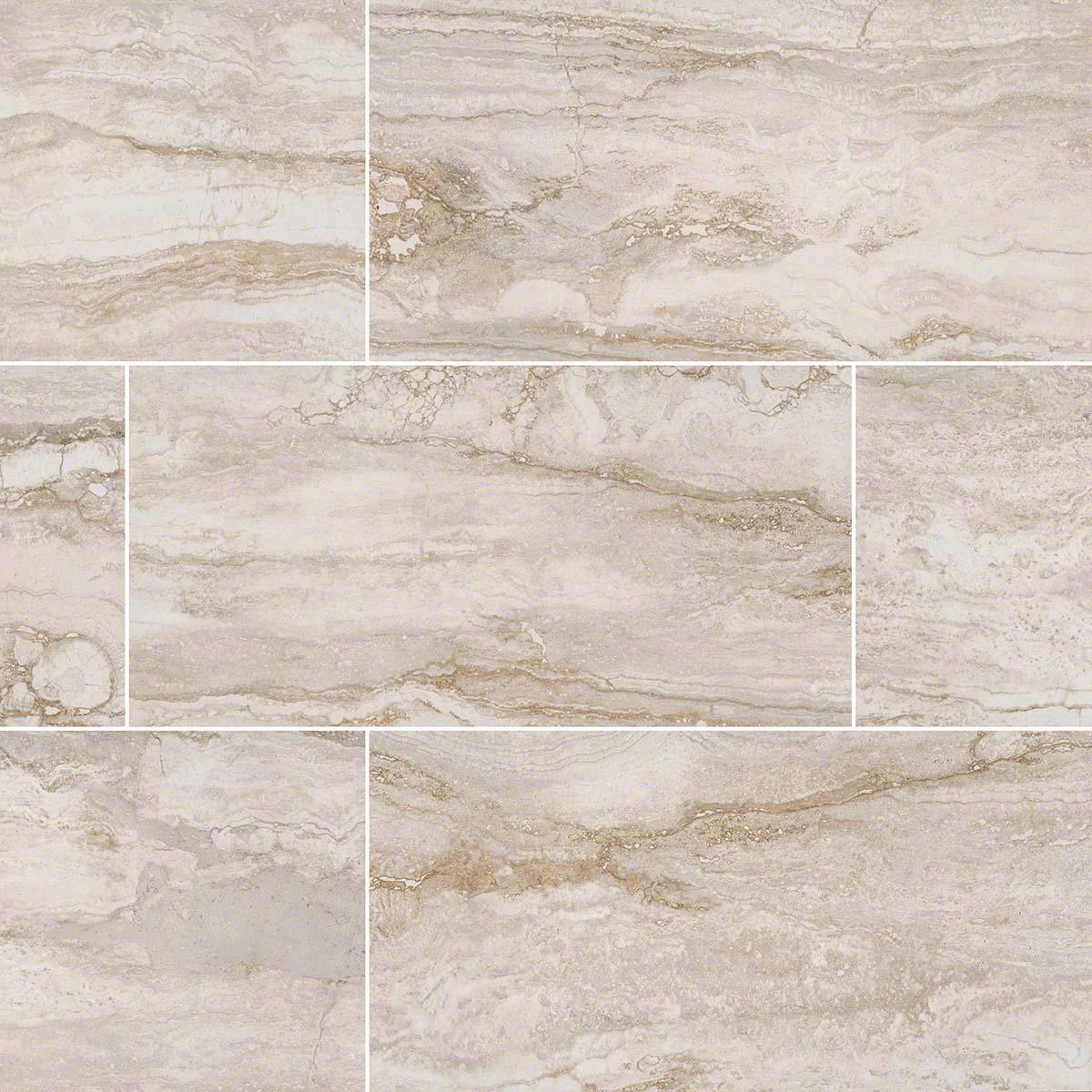 Pietra Bernini Bianco 18X18 Polished Porcelain Tile