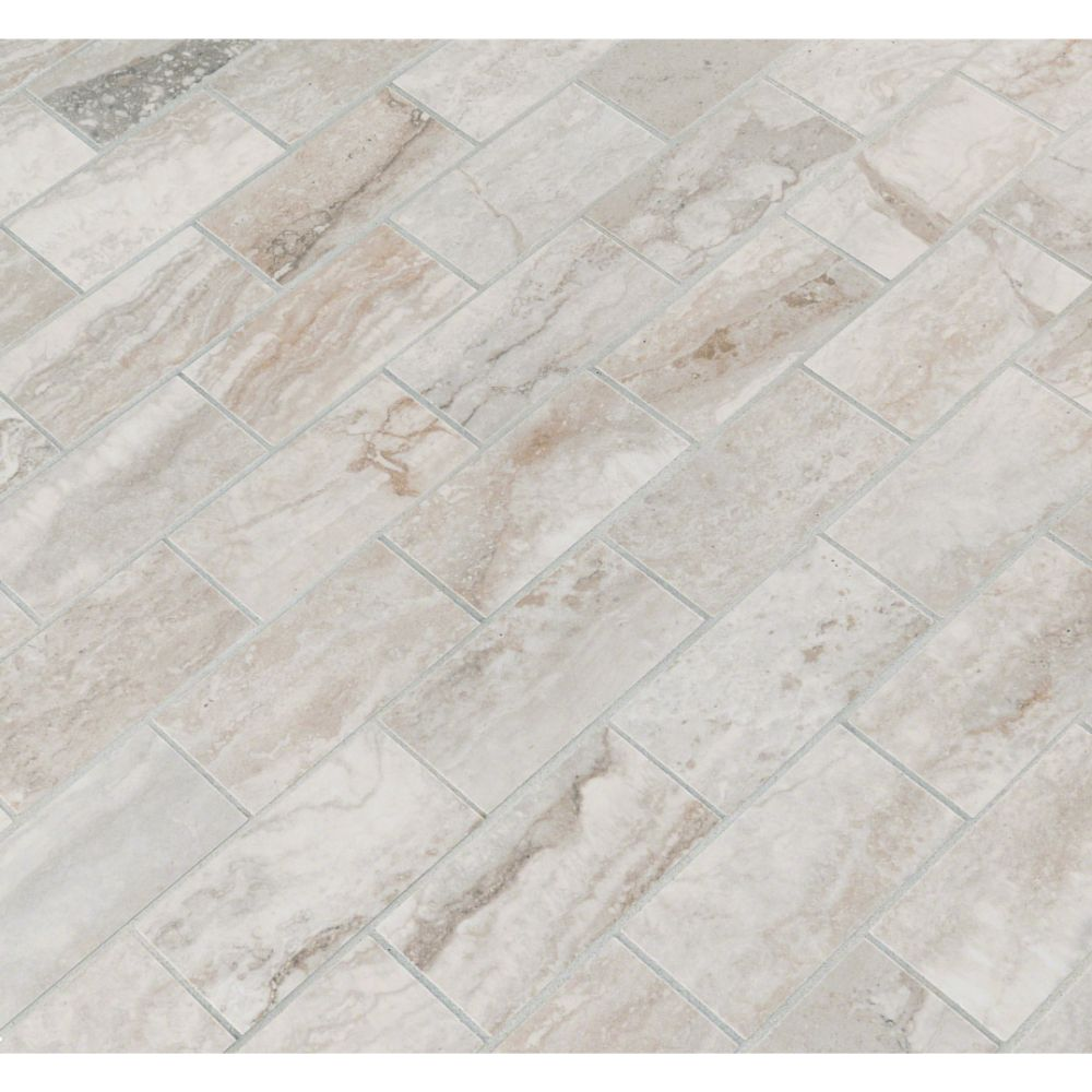 Pietra Bernini Camo 2X4 Polished Mosaic