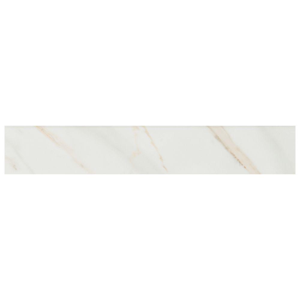 Pietra Calacatta 3X18 Bullnose Polished