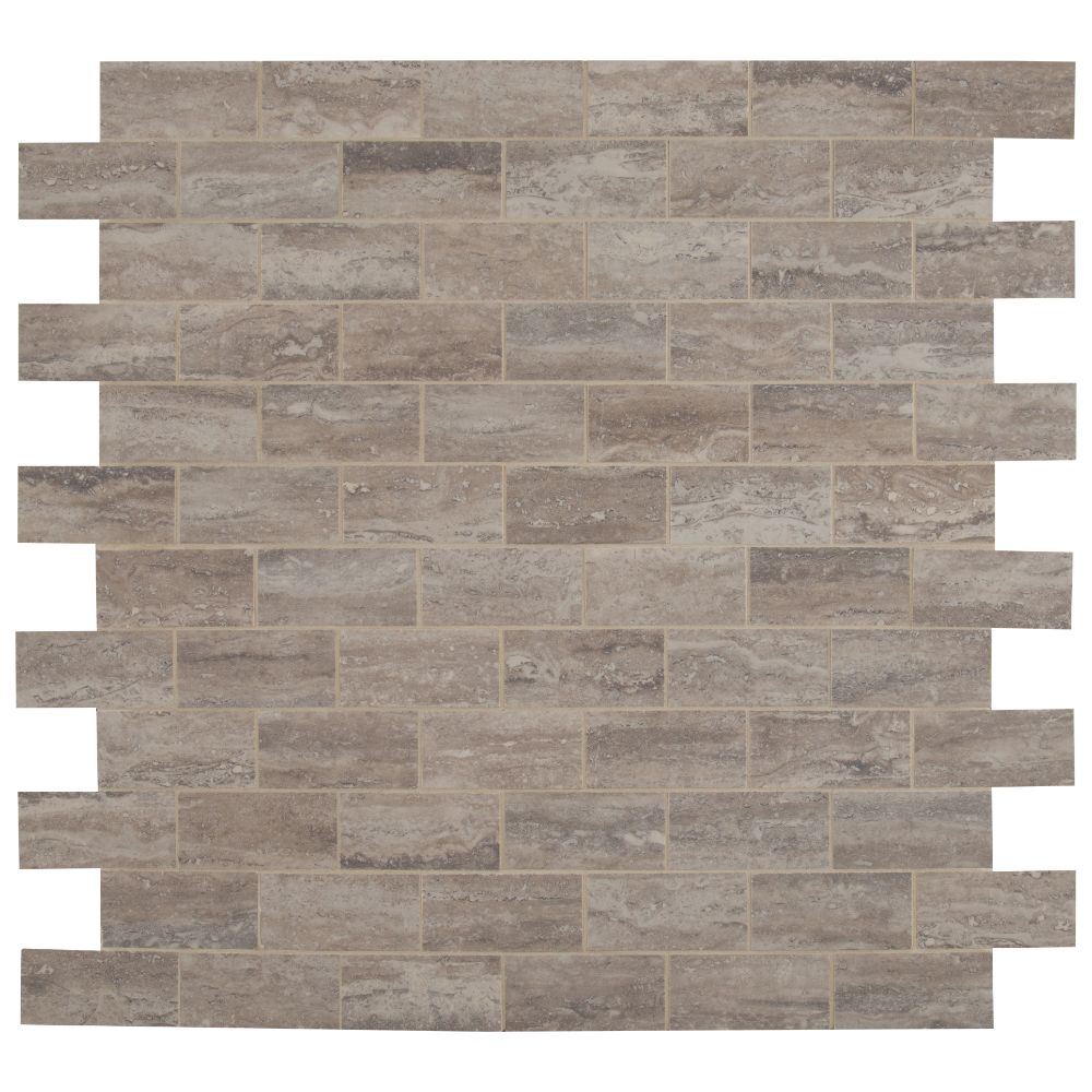Pietra Venata Gray 2X4 Polished Mosaic