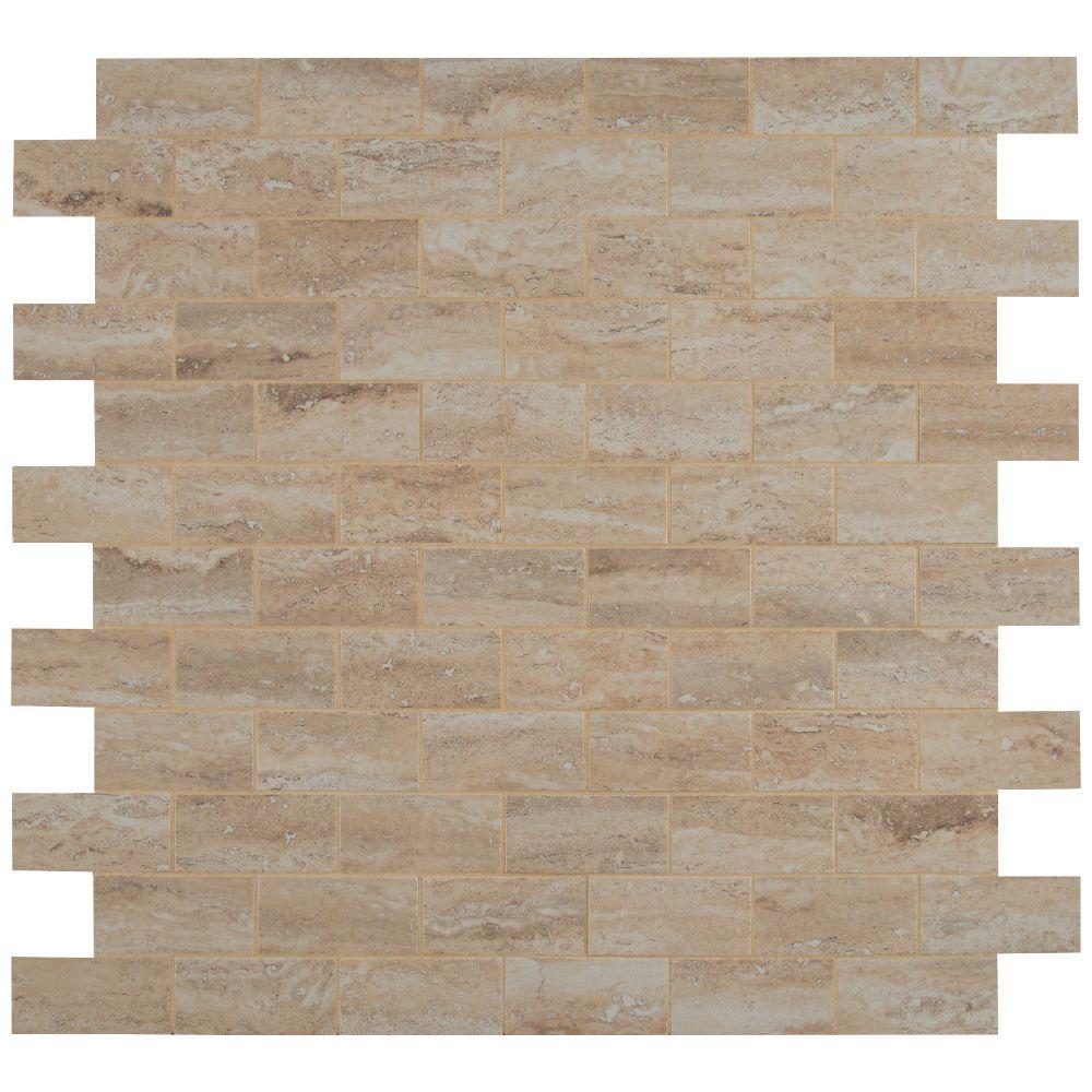 Pietra Vezio Beige 2X4 Polished Mosaic
