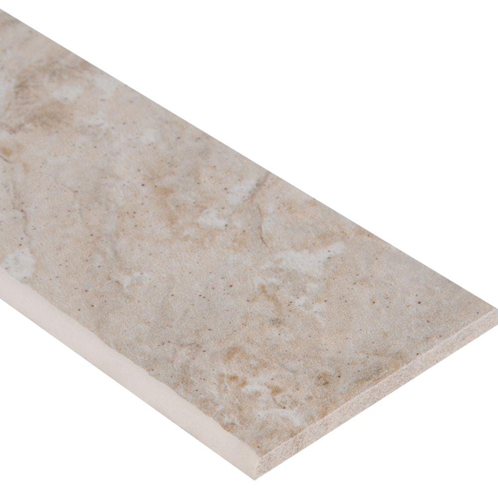 Platino Ivory Bullnose 4X18 Matte