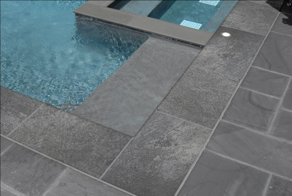 Quarzo Gray 13X24 One Long Side Bullnose Pool Coping