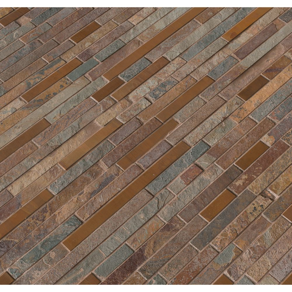 Rustic Creek Interlocking Backsplash Tile