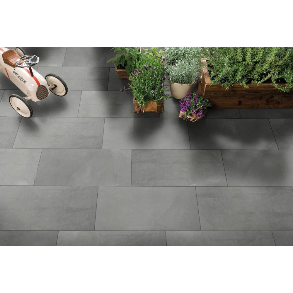 Sande Grey 12X24 Polished Porcelain Tile