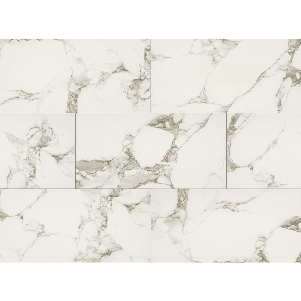 Statuario White 16X32 Matte Porcelain Tile