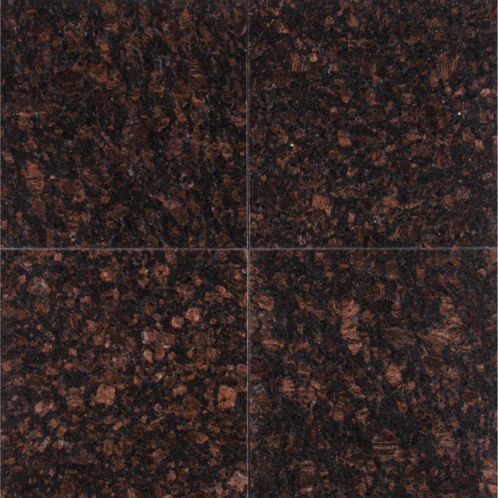 Tan Brown 12X12 Polished Granite Floor Tile