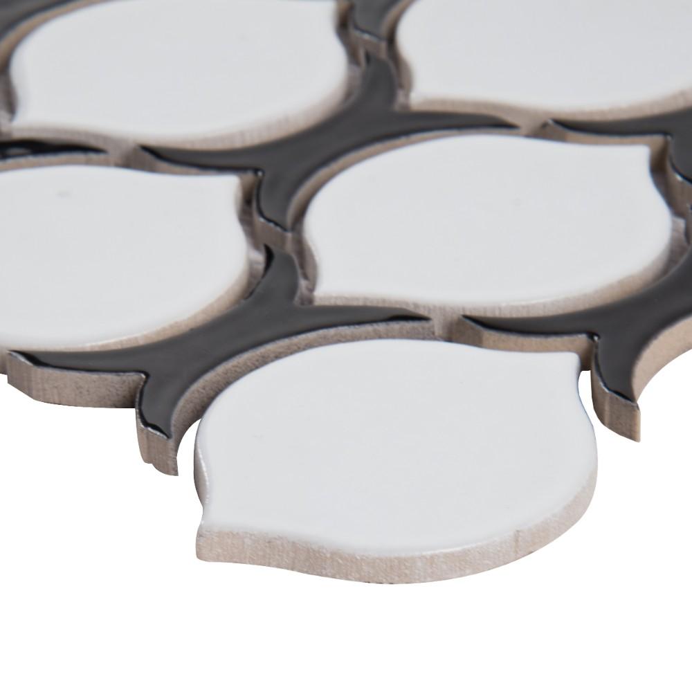 Teardrop Tuxe Glossy Pattern Porcelain Mosaic
