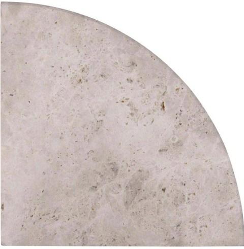 Tundra Gray Corner shelf 9 Inch Radius Polished