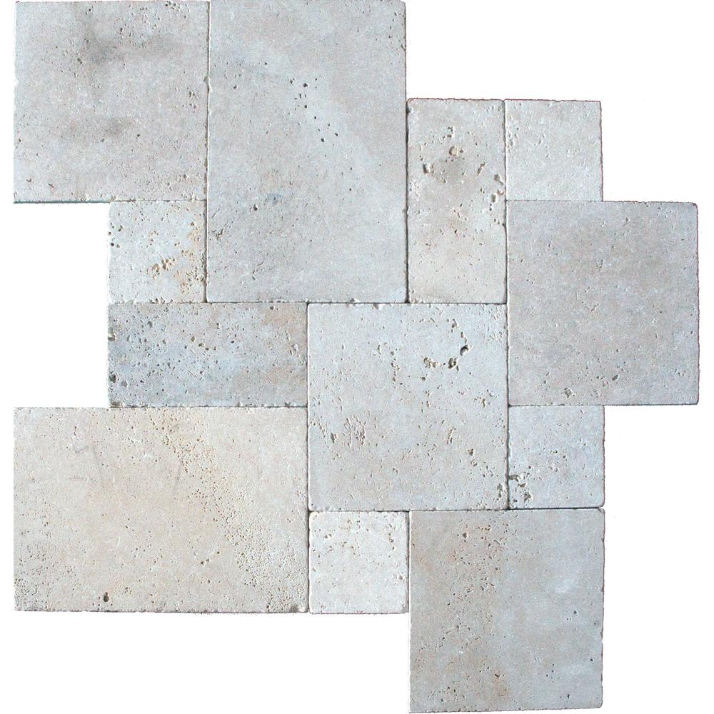 Tuscany Beige Tumbled 16X16 Honed Unfilled Tumbled