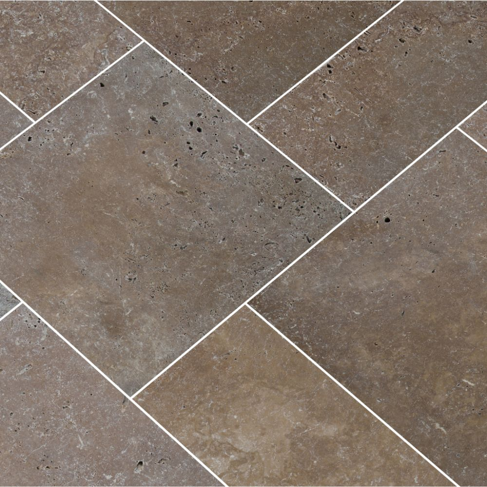 Tuscany Chocolade 8X8 Honed Unfilled Tumbled Paver