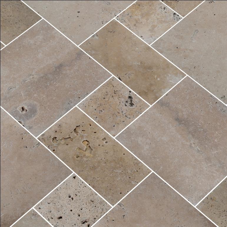Tuscany Walnut 24X24 Honed Unfilled Tumbled Paver