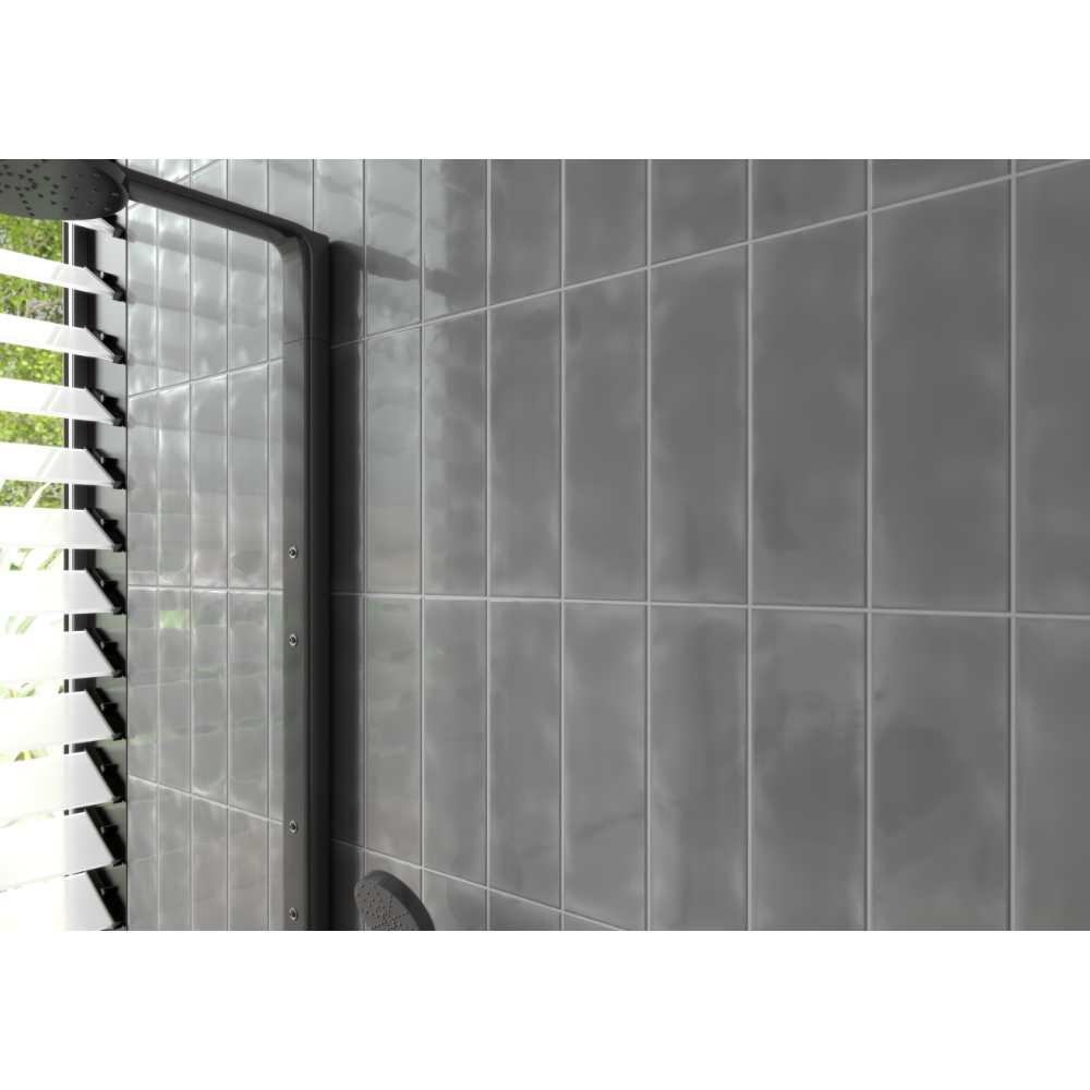 Urbano Graphite 4x12 Glossy Ceramic Subway Tile