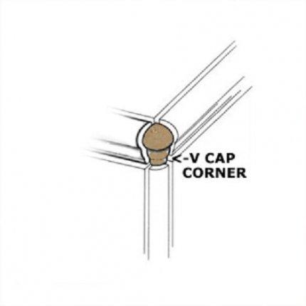 Venice Noce VCap Corner 1x3 Matte