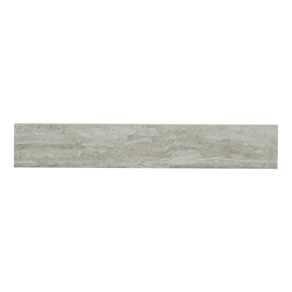 Veneto White 3X18 Polished Bullnose Porcelain Tile