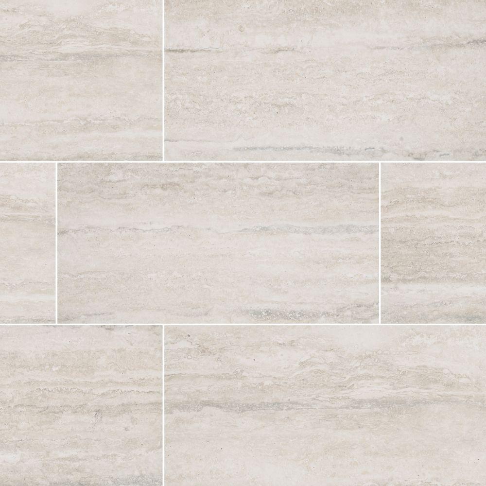 Veneto White 6X24 Matte Porcelain Tile